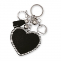 Crystal Bag Charms Herz